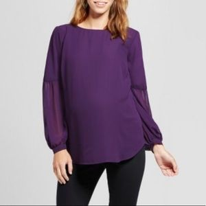 Isabel Maternity Purple Top (small) NWT